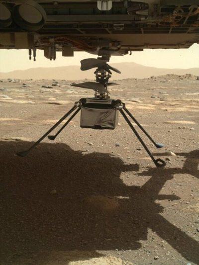 Todo lo que hay que saber del primer vuelo del helicóptero de la NASA en Marte
