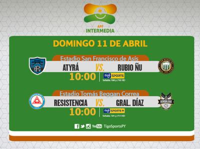 Domingo de fútbol en la Intermedia