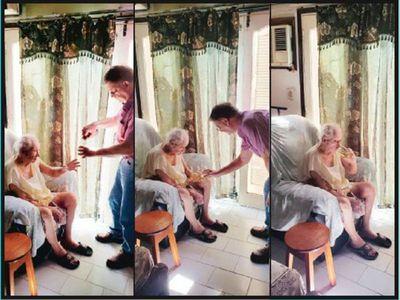 Abuelo de 94 años venció al COVID-19 y después cerveceó
