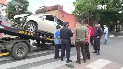 Un grave accidente de tránsito se registró sobre la Av. Rodríguez de Francia