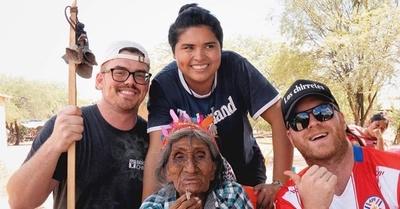 Chad y las voluntarias siguen con su trabajo en el Chaco