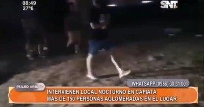 La Nación / Intervienen fiesta clandestina y carreras ilegales con 150 personas en Capiatá