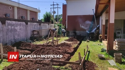 OBRAS EN USF DE CAP. MIRANDA: CONSTRUYEN SALA PARA INTERNACIÓN CON CINCO CAMAS.