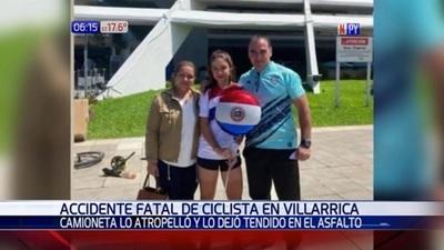 Padre de campeona paraguaya de ciclismo fallece atropellado en Guairá