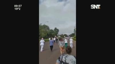 Salto del Guairá: Marcha de médicos
