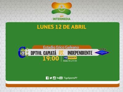 Capiatá e Independiente se estrenan en la Intermedia