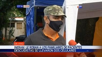 Descuidistas roban pertenencias de familiares de pacientes del INERAM