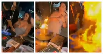 Mesero quemó el rostro y brazo de una joven al hacer flamear su trago de cumpleaños