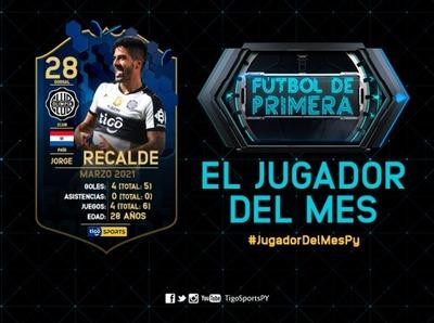 Jorge Recalde es elegido como el mejor jugador del mes de marzo