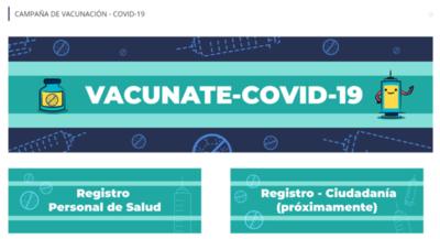 Sistema para registro de vacunación ya está listo