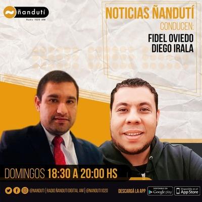 Noticias Ñanduti con Fidel Oviedo y Diego Irala