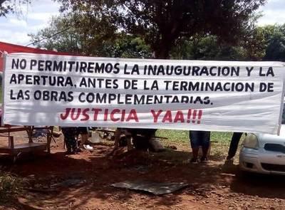 Pobladores del km 20 dicen que no dejarán que inauguren cárcel
