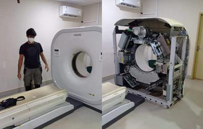 Tomógrafo del Hospital de Caazapá está siendo reparado