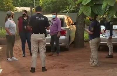 Allanamiento de automotores en Areguá