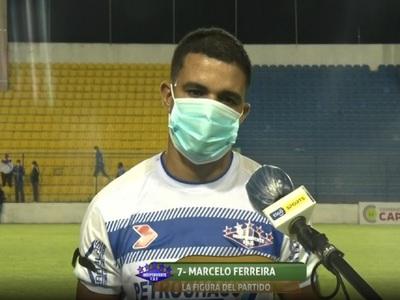 Marcelo Ferreira, la figura del partido entre Capiatá e Independiente