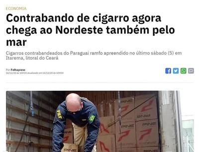 Sorprende CONTRABANDO de CIGARRILLO desde Paraguay al Brasil por el MAR