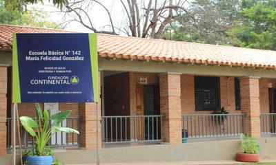 Fundación Continental entrega aulas en escuela María Felicidad Gonzalez