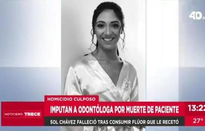 Imputan a odontóloga tras muerte de joven a causa de intoxicación con flúor