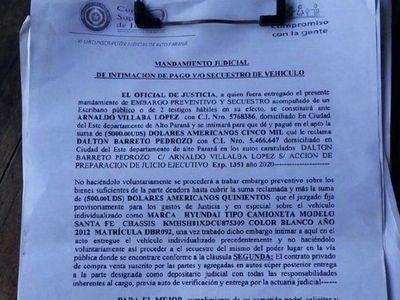 Caaguazú: Usan documentos falsos para secuestrar vehículos