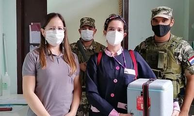 Sigue la vacunación contra el Covid-19 en Adultos mayores en el departamento Caaguazú