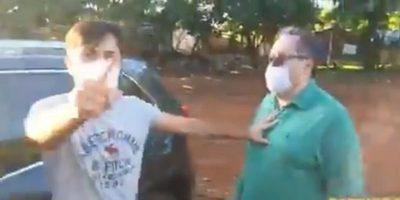 """""""Planillero nunca"""": Hombre que se agarró a golpes con activista desmiente acusaciones"""
