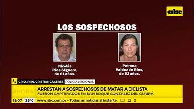 Arrestan a sospechosos de matar a ciclista