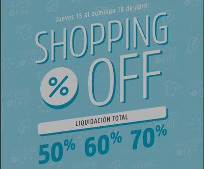 Se viene el Shopping off: del 15 al 18 de abril
