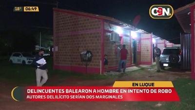 Luque: Delincuentes balearon a un hombre en intento de robo