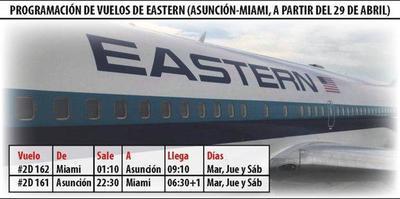 Eastern aumentará sus vuelos de Asunción a Miami – Prensa 5