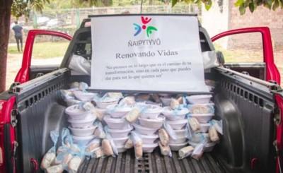 "Organización ""Ñaipytyvõ Ñane Retã"" entrega almuerzos en hospitales"