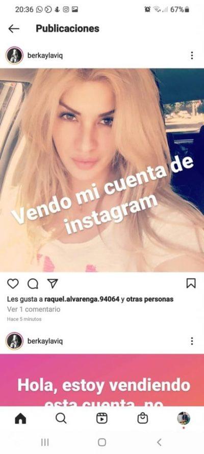 Hackers quieren revender cuenta de Instagram de Lilian Ruiz
