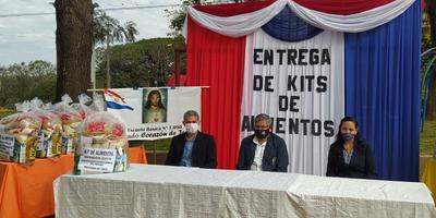 Lanzamiento de entrega de kits de alimentos a instituciones educativas del Guairá