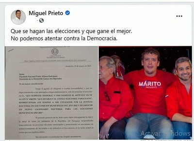 Miguel Prieto, CARADURA al EXTREMO