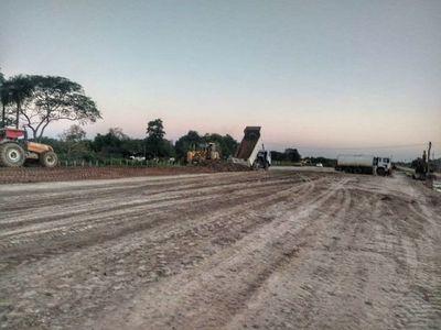 Arrancó el refulado en la obra 1 del tramo Alberdi-Pilar