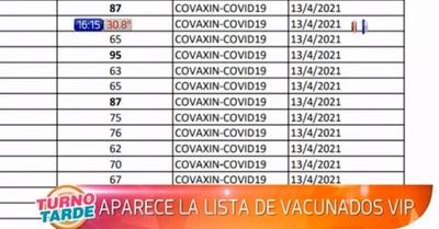 Filtran lista de vacunados irregularmente en Presidente Franco