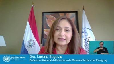 Defensora General, en conversatorio de Naciones Unidas Paraguay
