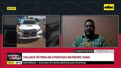 Fallece víctima de atentado en Pedro Juan