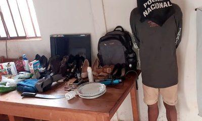 Sorprenden a ladrón que hurtaba hasta platos de una casa, en Hernandarias – Diario TNPRESS