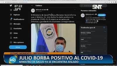 Julio Borba positivo al COVID-19