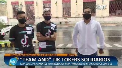 """Team AND"" Tik Tokers solidarios"