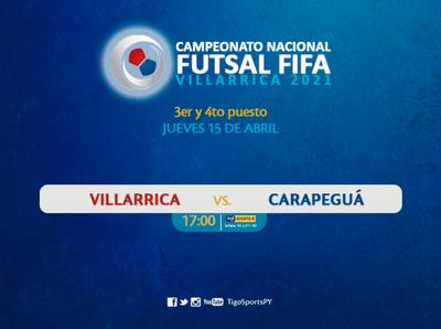 Villarrica y Carapeguá juegan por el tercer lugar del Nacional de futsal FIFA