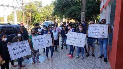 Pobladores de saladillo exigen justicia por la muerte de un joven