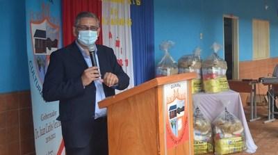 En Guairá realizan el lanzamiento de entrega de kits de alimentos