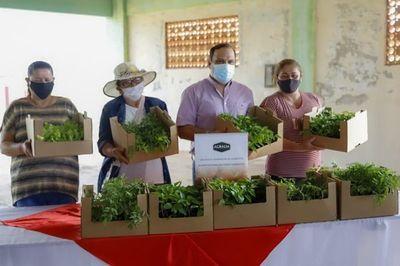 "Ministro entrega plantines a participantes del proyecto ""Mi Huerta"""