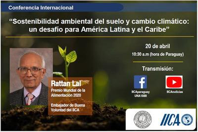 Invitan a conferencia magistral sobre sostenibilidad ambiental del suelo con experto internacional