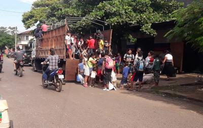 Trasladan a indígenas que se encontraban por las calles de Coronel Oviedo