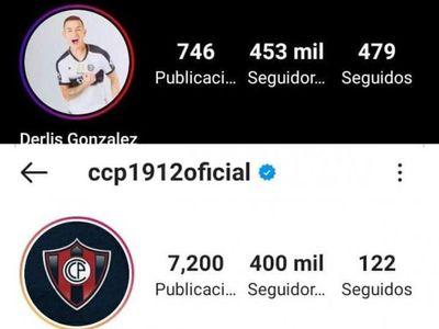 Derlis es más popular que Cerro en Instagram