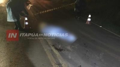 HOMBRE FALLECE ARROLLADO POR DOS VEHÍCULOS EN TOMAS ROMERO PEREIRA.