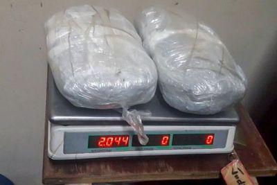Hallan más de dos kilos de marihuana en muro perimetral de Penitenciaria La Esperanza