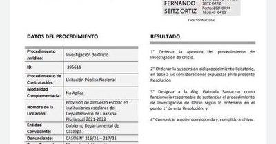 La Nación / Contrataciones suspende licitación cocinada a favor de empresa de los Friedmann